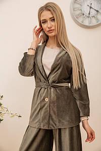 Пиджак женский 115R363-17 цвет Хаки