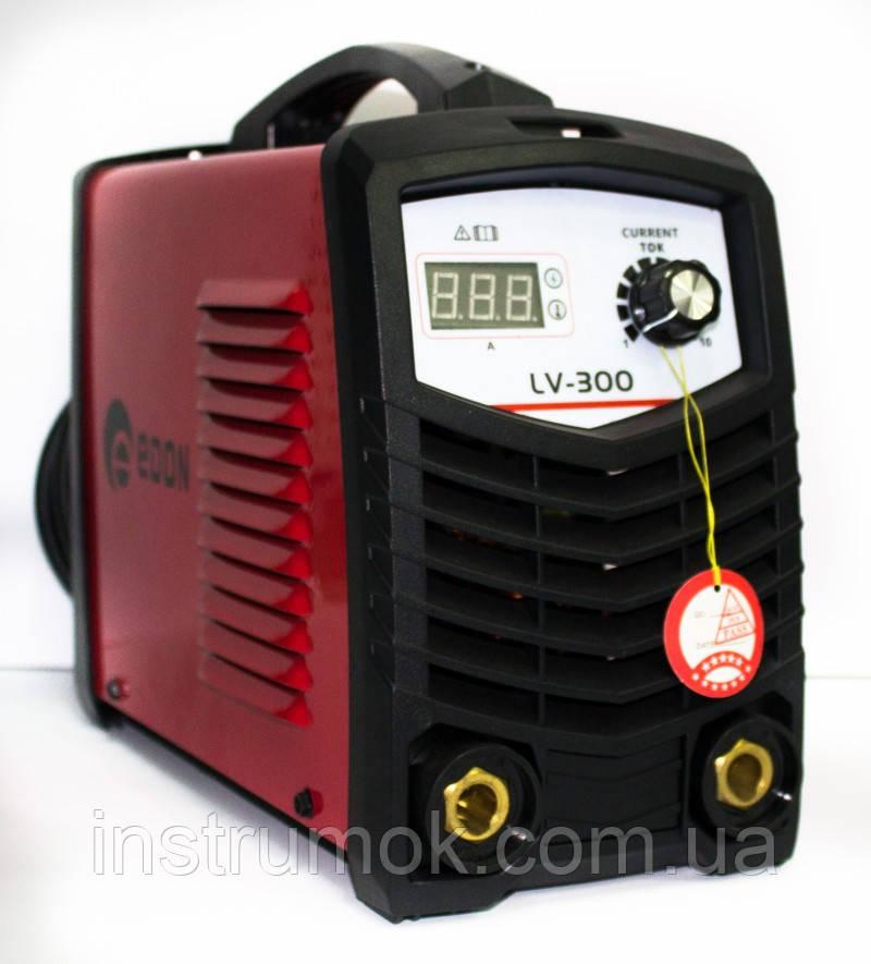 Інверторний зварювальний апарат Edon LV-300 (new), 4.6 кВт, ККД 85%, електроди 1.6-5,0, сварок. струм 300 А, дисплей