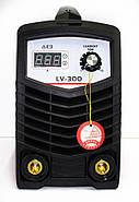 Інверторний зварювальний апарат Edon LV-300 (new), 4.6 кВт, ККД 85%, електроди 1.6-5,0, сварок. струм 300 А, дисплей, фото 2