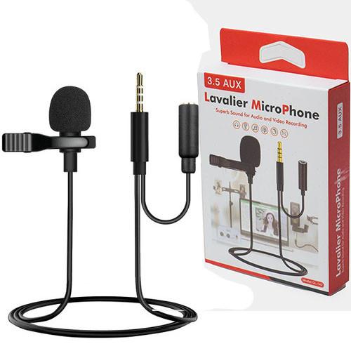 Мікрофон петличка GL-142 3.5 AUX роз'єм для навушників