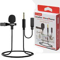 Мікрофон петличка GL-142 3.5 AUX роз'єм для навушників, фото 1