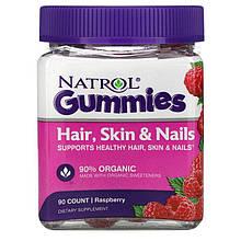 """Комплекс для кожи, волос и ногтей Natrol """"Hair, Skin & Nails Gummies"""" с малиновым вкусом (90 конфет)"""