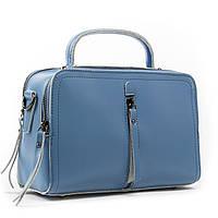 Женская стильная сумка голубого цвета кожа А. Rai классическая сумочка из натуральной кожи, фото 1