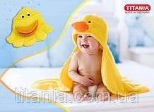 Детская варежка-мочалка утёнок TITANIA art.9201