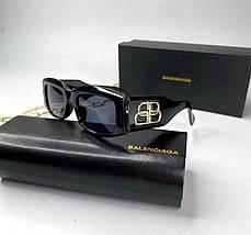 Женские солнцезащитные квадратные очки Баленсиага реплика Черные, фото 2