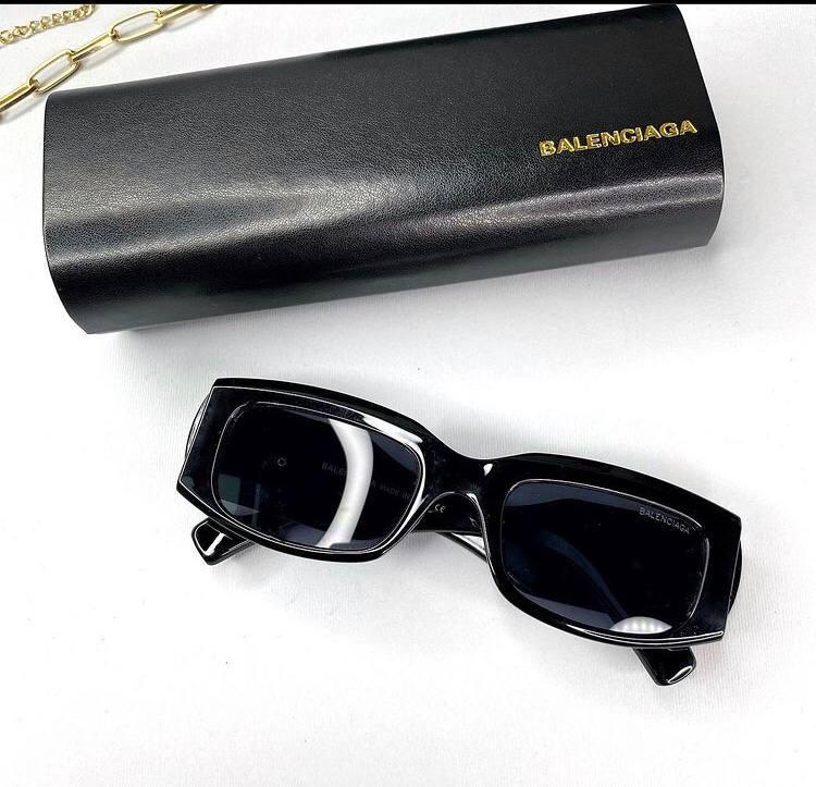 Женские солнцезащитные квадратные очки Баленсиага реплика Черные