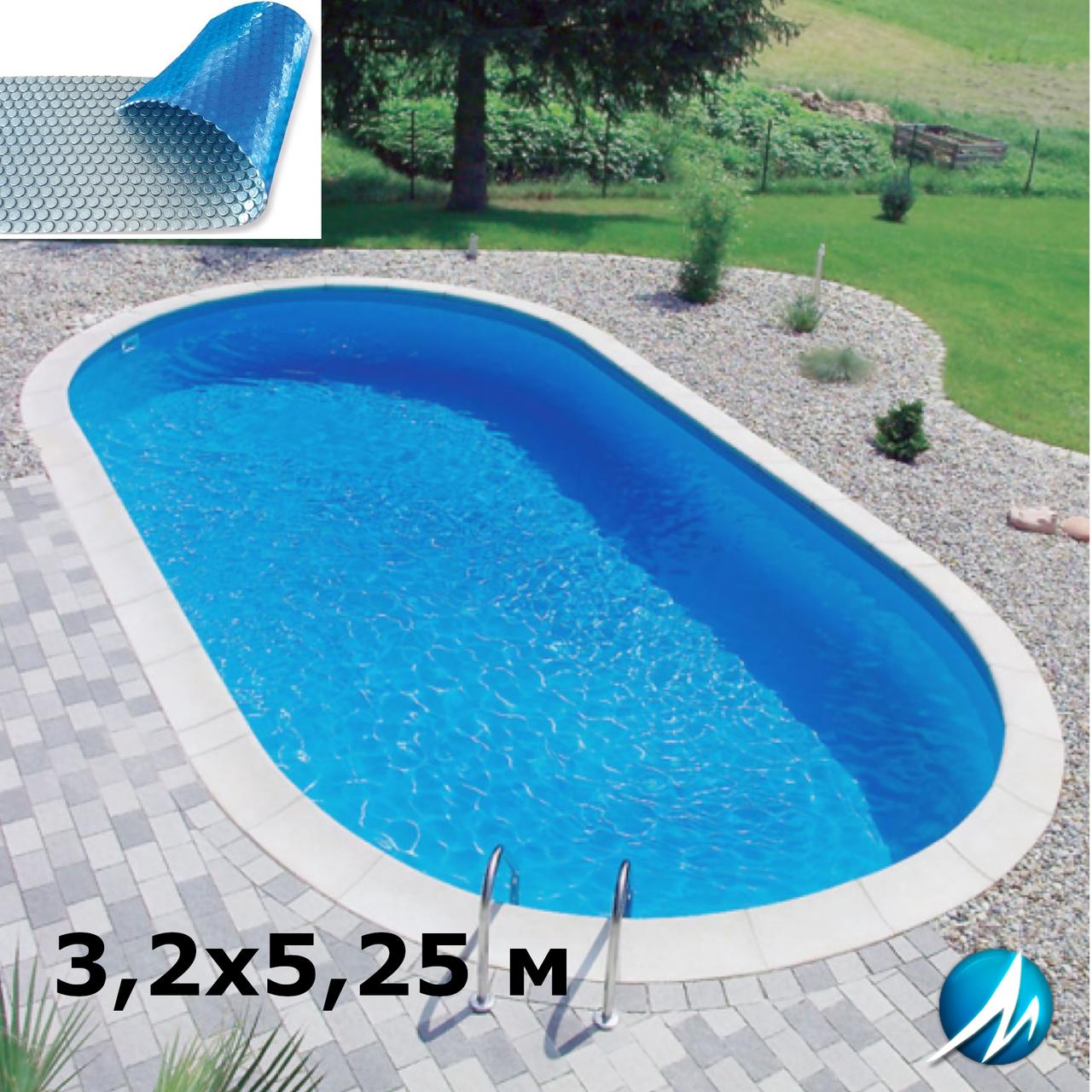 Солярне накриття для зборного овального басейну 3,2х5,25 м