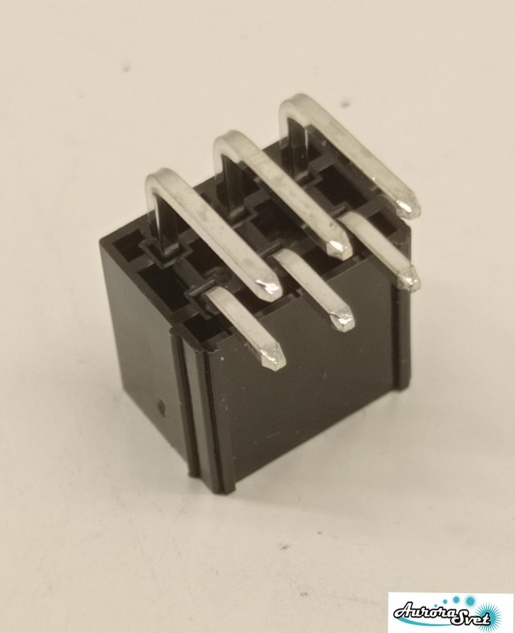 6 pin роз'єм Mini-Fit кутовий вилка + контакти,для живлення відеокарти під пайку.Конектор 4.2 мм 2x3Pin