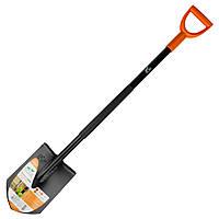 Лопата штыковая с металлической ручкой 285×195×1170мм 2.0кг FLORA (5045324)