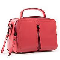 Женская стильная сумка красного цвета кожа А. Rai классическая сумочка из натуральной кожи, фото 1