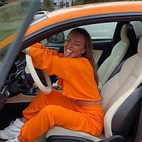 Жіночий стильний спортивний костюм з укороченим топом, фото 1