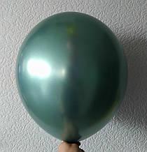 """Латексный шар хром изумрудный 12 """"30см Китай"""