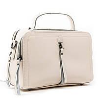 Жіноча стильна сумка з ручкою шкіра А. Rai класична сумочка з натуральної шкіри, фото 1