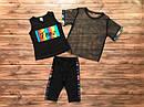 """Дитячий літній костюм-трійка """"Love"""" для дівчинки на 5-8 років, фото 4"""