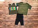 """Дитячий літній костюм-трійка """"Love"""" для дівчинки на 5-8 років, фото 3"""