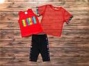 """Дитячий літній костюм-трійка """"Love"""" для дівчинки на 5-8 років, фото 2"""