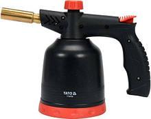 Лампа паяльна газова з пьезозапалом 1.7 кВт тип з'єднання EURO EN417 YATO YT-36720 (Польща)