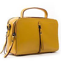 Женская сумка через плечо желтого цвета кожа А. Rai классическая сумочка из натуральной кожи, фото 1