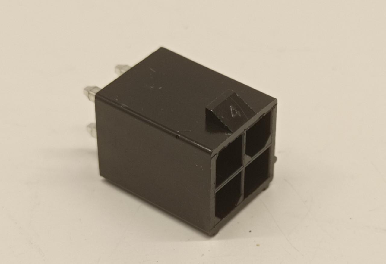 Разъем 4pin Mini-Fit  вилка + контакты,для питания видеокарты под пайку.Коннектор 4.2мм 2x2Pin