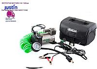 Автомобильный компрессор URAGAN 90140 200w 40л/мин 10атм Ураган автомобільний компресор для шин от клем акб