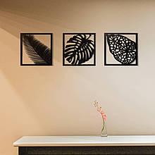Декор на стену. Набор панно на стену Листья