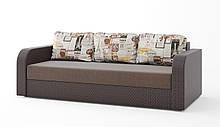 Удобный прямой трехместный диван еврокнижка раскладной красивый в гостиную для ежедневного сна Париж