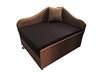 Малогабаритные детские мини кровати-диваны и мягкие кресла Диванчик маленький компактный Малыш Коричневый
