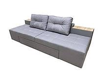 Спальный прямой диван кровать трансформер Угловые диваны-трансформеры для ежедневного сна РЕЛАКС Светло серый