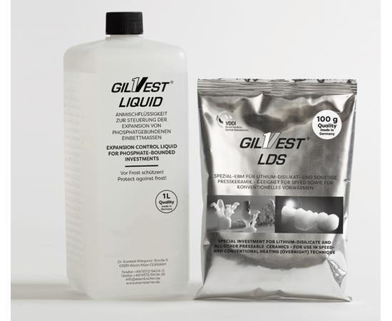 Пакувальна маса для дисиликата літію Gilvest ® LDS, Гилвест ЛДС (50х100д), Giulini, Виробництва Німеччина
