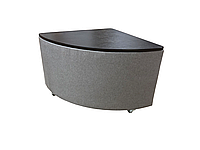 Прикроватный угловой столик приставной к дивану в гостиную Пуф-стол с нишей Меркурий серый
