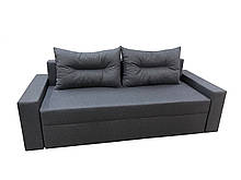 Удобный прямой трехместный диван еврокнижка мягкий красивый в гостиную Даллас Серый