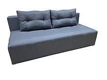 Удобный прямой раскладной диван еврокнижка Серый без подлокотников комфортный для ежедневного сна Буги