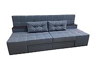 Спальный диван угловой прямой кровать трансформер 3 в 1 ПРАЙМ серый без подлокотников многофункциональный