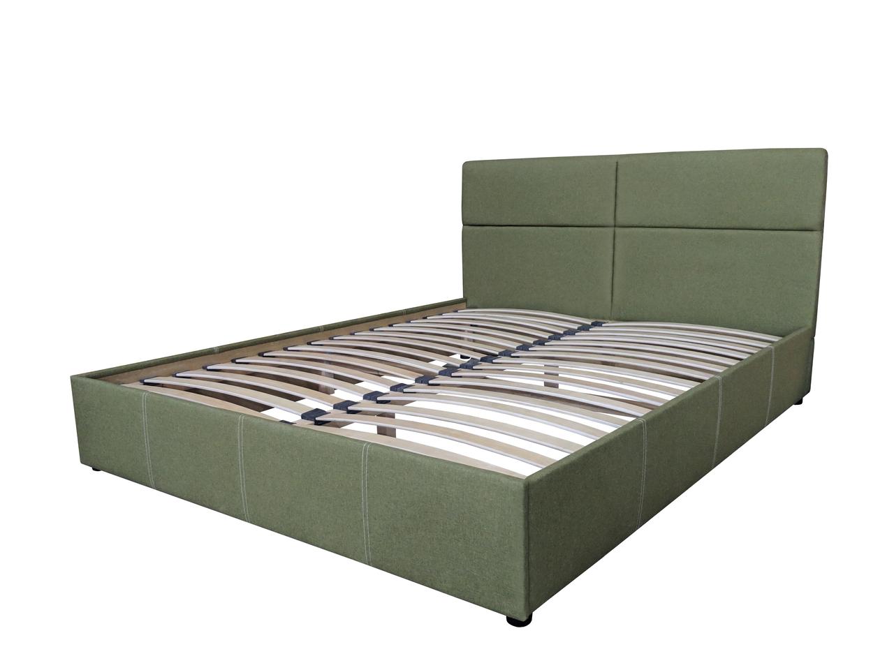 Ліжка тканинні з м'яким узголів'ям 160х200 в м'якій оббивці Бежевий Женева