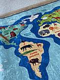 """Безкоштовна доставка! Килимок дитячий """"Карта світу 2"""" 200х290см., фото 6"""