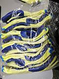 Захисні робочі рукавички господарські рукавички з латексним покриттям сині WERK 2138, фото 4