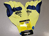 Захисні робочі рукавички господарські рукавички з латексним покриттям сині WERK 2138, фото 5