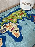 """Безкоштовна доставка! Килимок дитячий """"Карта світу 2"""" 200х290см., фото 7"""