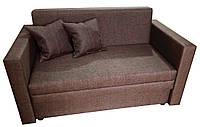 Небольшой двухместный компактный маленький диван-кровать Юниор Малогабаритные мини-диваны 2 местные Коричневий