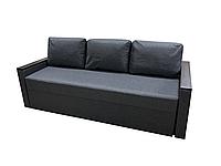 Удобный прямой трехместный диван мягкий раскладной красивый в гостиную для ежедневного Арни Серый