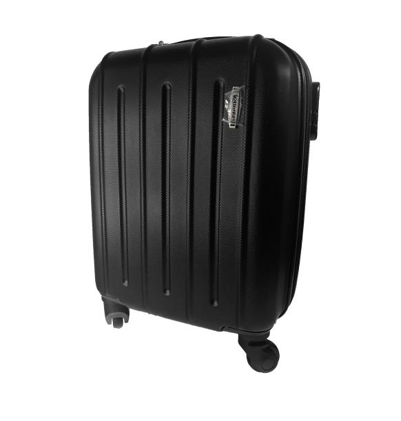 Ручная кладь маленький чемодан на 4-х колесах Черный