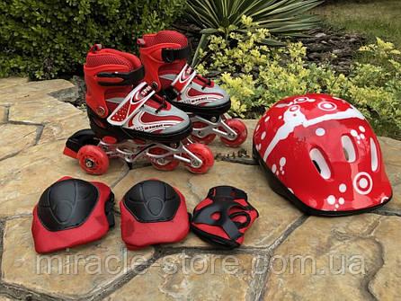 Ролики с защитой и шлемом Power Superb, фото 2