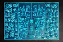 Коврик массажный IGORA JOY, для стоп, синий, MS-1300-5
