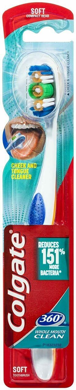 Зубна щітка Colgate 360 Whole Mouth Clean середньої жорсткості