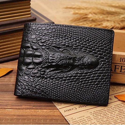 Модный мужской кожаный кошелек. Дракон