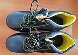 Антискользящие рабочие ботинки спецобувь из кожи с металлическим подноском BRYES-T-SB, фото 3