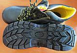 Антискользящие рабочие ботинки спецобувь из кожи с металлическим подноском BRYES-T-SB, фото 4