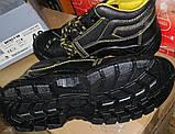 Антискользящие рабочие ботинки спецобувь из кожи с металлическим подноском BRYES-T-SB, фото 5