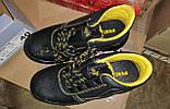 Антискользящие рабочие ботинки спецобувь из кожи с металлическим подноском BRYES-T-SB, фото 6