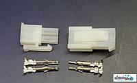 Разъем 2Р 4pin Mini-Fit 4.2mm комплект + контакты,для питания электроники под обжимку.боково замокй, фото 1